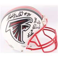 "Roddy White Signed Falcons Full-Size Authentic On-Field Helmet Inscribed ""Dirty Bird 4 Life"" (JSA CO"