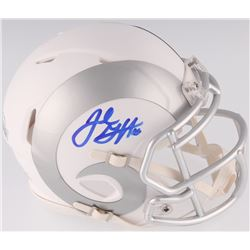 Jared Goff Signed Rams White ICE Mini Speed Helmet (Fanatics Hologram)
