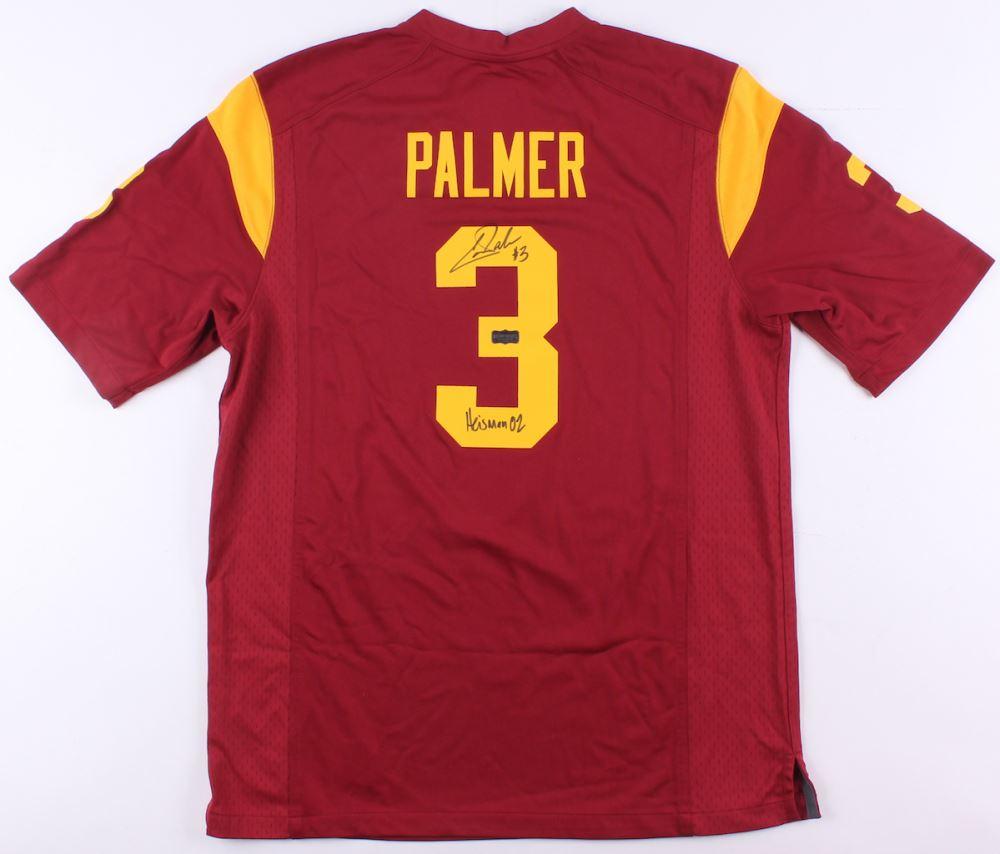 quality design 841f8 990fa Carson Palmer Signed USC Trojans Nike Jersey Inscribed ...