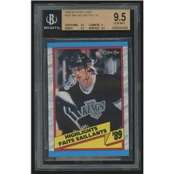 1989-90 O-Pee-Chee #325 Wayne Gretzky HL (BGS 9.5)
