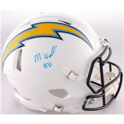 Mike Williams Signed Chargers Full-Size Authentic On-Field Speed Helmet (Fanatics Hologram)