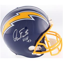 "Dan Fouts Signed Chargers Full-Size Throwback Helmet Inscribed ""HOF '93"" (JSA COA)"