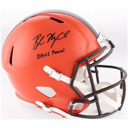 "Baker Mayfield Signed Browns Full-Size Speed Helmet Inscribed ""DAWG Pound!"" (Radtke COA)"