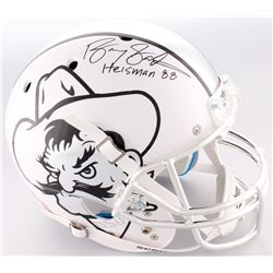 "Barry Sanders Signed Oklahoma State Cowboys Full-Size Helmet Inscribed ""Heisman 88"" (Schwartz Sports"