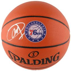 Joel Embiid Signed 76ers Logo Basketball (Fanatics Hologram)