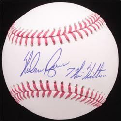 "Nolan Ryan Signed OML Baseball Inscribed ""7 No-Hitters"" (AI Verified Hologram  Ryan Hologram)"