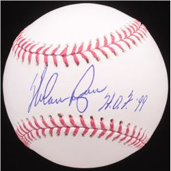 "Nolan Ryan Signed OML Baseball Inscribed ""H.O.F. '99"" (AI Verified Hologram  Ryan Hologram)"