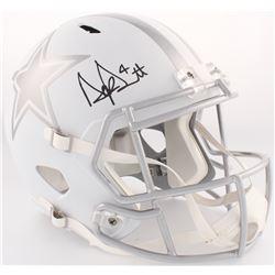 Dak Prescott Signed Cowboys Full-Size White ICE Speed Helmet (JSA COA)