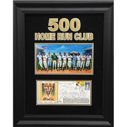 500 Home Run Club 18x22 Custom Framed FDC Envelope Display Signed by (12) with Mickey Mantle, Ted Wi