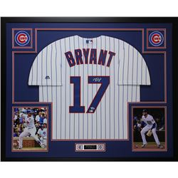 Kris Bryant Signed Cubs 35x43 Custom Framed Jersey Display (Fanatics  MLB Holgoram)