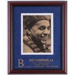 "Roy Campanella Signed Dodgers 13x16 Custom Framed Photo Display Inscribed ""Best Wishes"" (JSA LOA)"