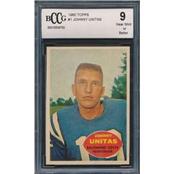 1960 Topps #1 Johnny Unitas (BCCG 9)