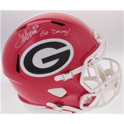 "Terrell Davis Signed University of Georgia Bulldogs Full-Size Helmet Inscribed ""Go Dawgs"" (Radtke CO"