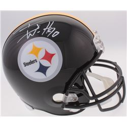 T. J. Watt Signed Steelers Full-Size Helmet (Radtke COA)