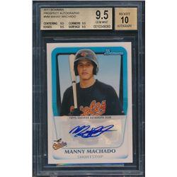 2011 Bowman Prospect Autographs #MM Manny Machado (BGS 9.5)