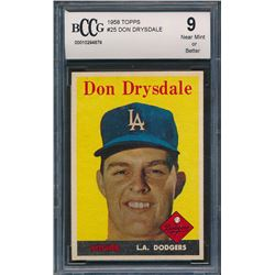 1958 Topps #25 Don Drysdale (BCCG 9)