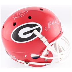 Todd Gurley  Nick Chubb Signed Georgia Bulldogs Full-Size Helmet (Radtke COA)