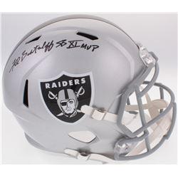 "Fred Biletnikoff Signed Raiders Full-Size Helmet Inscribed ""SB XI MVP"" (Radtke COA)"