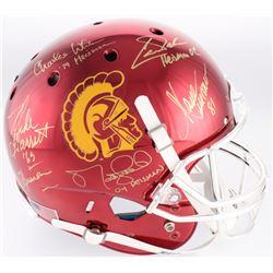 USC Trojans Full-Size Chrome Helmet Signed by (5) with Charles White, Marcus Allen, Matt Leinart (Ra