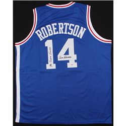 "Oscar Robertson Signed Royals Jersey Inscribed ""Mr. Triple Double"" (PSA COA)"