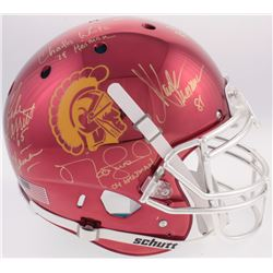 USC Trojans Heisman Winners Full-Size Authentic On-Field Chrome Helmet Signed by (5) With Carson Pal