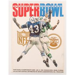 Super Bowl III Official Game Program Collector's Edition