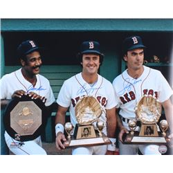 Jim Rice, Fred Lynn  Dwight Evans Signed Red Sox Greats 16x20 Photo (JSA COA)