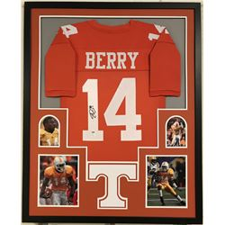 Eric Berry Signed Tennessee Volunteers 34x42 Custom Framed Jersey (PSA COA)