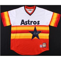 on sale d2492 e7dfd Nolan Ryan Signed Astros Throwback Jersey (AI Verified ...