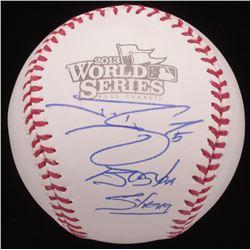 "Jonny Gomes Signed 2013 World Series Baseball Inscribed ""Boston Strong"" (JSA COA)"