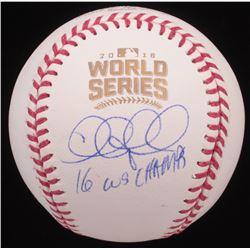 Chris Coghlan Signed 2016 World Series Baseball Inscribed  16 WS Champs  (JSA COA)
