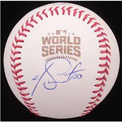 Joe Smith Signed 2016 World Series Baseball (JSA COA)