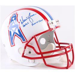 "Warren Moon Signed Oilers Throwback Full-Size Helmet Inscribed ""HOF 06""  ""Run-N-Shoot"" (Radtke COA"