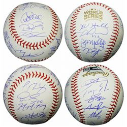Cubs 2016 World Series Series Baseball Team-Signed by (23) with Kris Bryant, Anthony Rizzo, Addison