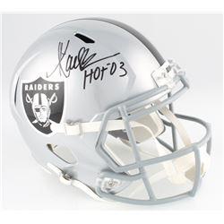 """Marcus Allen Signed Raiders Full-Size Speed Helmet Inscribed """"HOF 03"""" (Radtke COA  Allen Hologram)"""