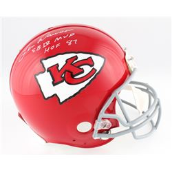 "Len Dawson Signed Chiefs Full-Size Authentic On-Field Helmet Inscribed ""HOF 87""  ""SB IV MVP"" (Radtke"