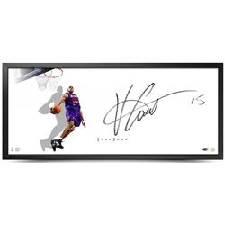 "Vince Carter Signed Raptors ""The Show"" 20x46 Custom Framed Lithograph (UDA COA)"