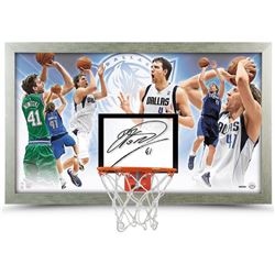 "Dirk Nowitzki Signed ""The Dagger"" 18.5x30.5 Limited Edition Backboard (UDA COA)"