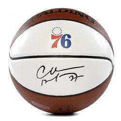 Charles Barkley Signed 76ers Logo Basketball (Panini COA)