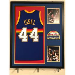 Dan Issel Signed Nuggets 34x42 Custom Framed Jersey (JSA COA)