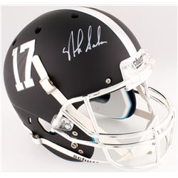 Nick Saban Signed Alabama Crimson Tide Custom Matte Black Full-Size Helmet (Radtke COA)