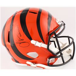 "Chad ""Ocho Cinco"" Johnson Signed Bengals Full-Size Speed Helmet Inscribed ""Ocho Cinco"" (JSA COA)"