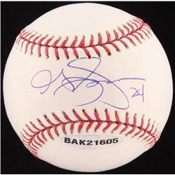 Grady Sizemore Signed OML Baseball (Upper Deck COA  MLB Hologram)