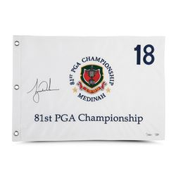 Tiger Woods Signed Limited Edition 1999 PGA Championship Pin Flag (UDA COA)