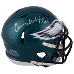 "Carson Wentz Signed Eagles Speed Mini Speed Helmet Inscribed ""AO1"" (Fanatics Hologram)"