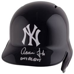 "Aaron Judge Signed Yankees Full-Size Batting Helmet Inscribed ""2017 AL ROY"" (Fanatics Hologram)"