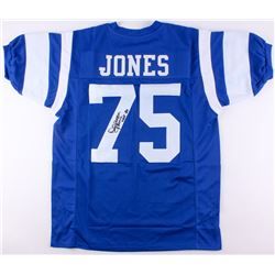 "Deacon Jones Signed Rams Jersey Inscribed ""HOF 80"" (JSA COA)"