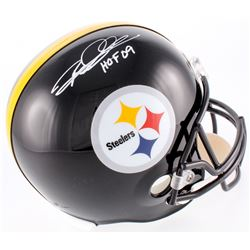 "Ron Woodson Signed Steelers Full-Size Helmet Inscribed ""HOF 09"" (JSA COA)"