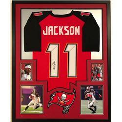 DeSean Jackson Signed Buccaneers 34x42 Custom Framed Jersey (JSA COA)