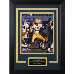"Bart Starr Signed Packers 14x18.5 Custom Framed Photo Display Inscribed ""2x SB MVP"" (TriStar Hologra"